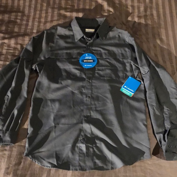 c130c7dd3d9 Columbia Shirts | Kestrel Trail Long Sleeve Grey Small | Poshmark